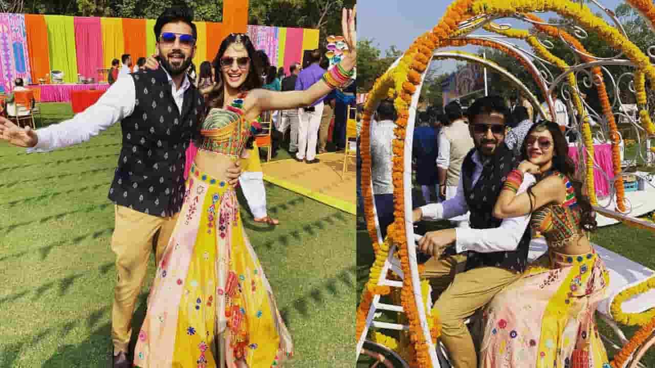 Nusrat Jahan Nikhil Jain attend wedding
