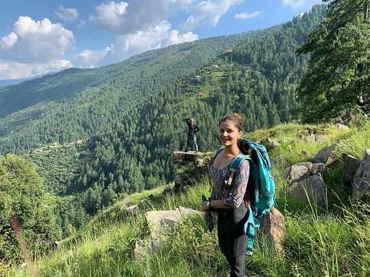 Rubina Dilaik Enjoying Tracking