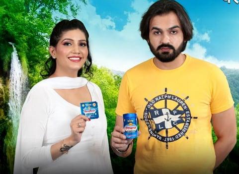 Sapna Choudhary with husband Veer Sahu