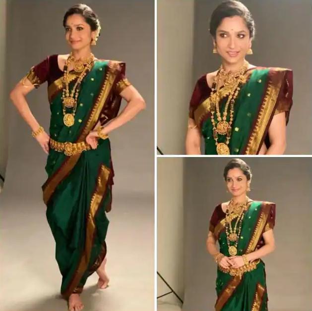 Ankita Lokhande in marathi saree