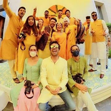 neha kakkar Haldi and mehendi Ceremony