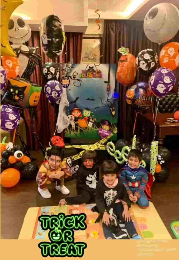 Taimur in halloween party at his house