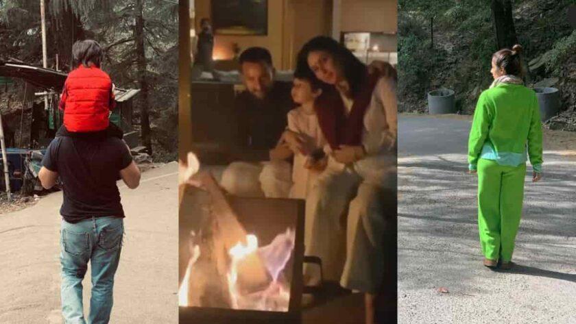 Kareena kapoor khan and Saif ali khan spending family time in Dharamshala