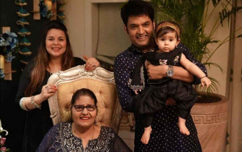 kapil sharma shared photo of his diwali celebration, ginni is hiding her baby bump