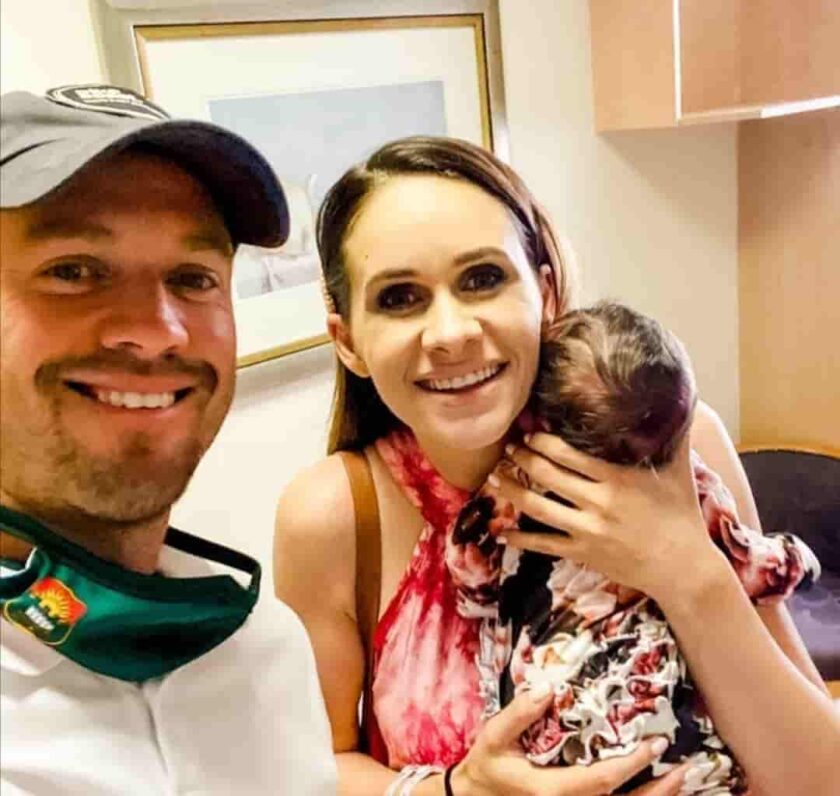 AB de Villiers and Danielle de Villiers welcomed their baby girl