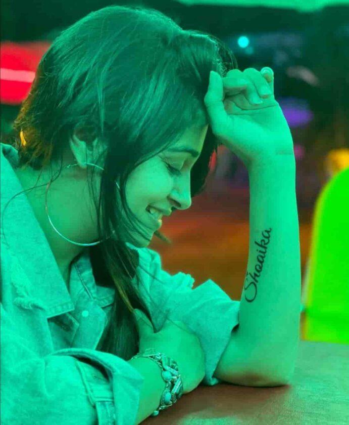 Dipika Kakkar Ibrahim made Shoaika's name tattoo
