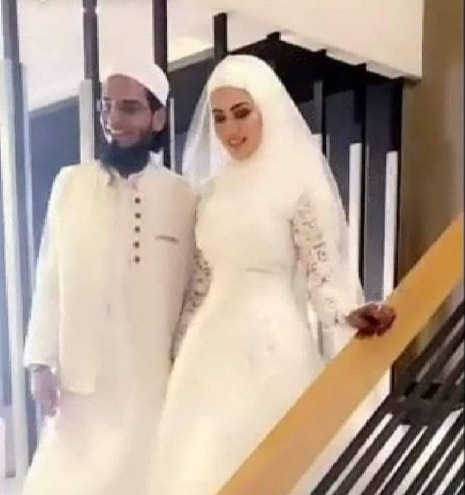 Sana khan got married with Mufti Anas in Surat
