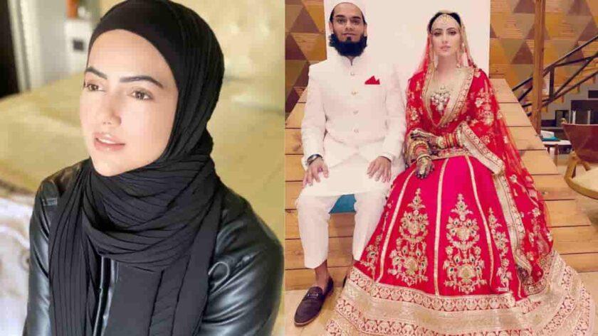 Sana Khan married with maulvi Anas Sayied