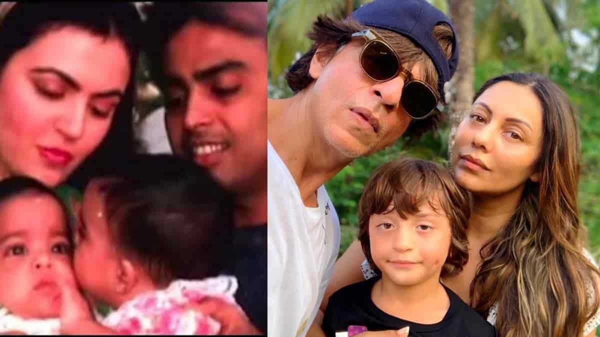 Mukesh Ambani and Shahrukh Khan family
