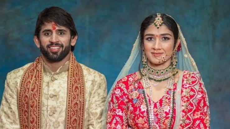 Bajrang Punia & Sangeeta Phogat