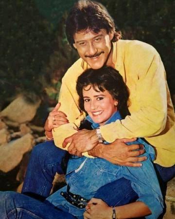Jackie Shroff and Ayesha Shroff